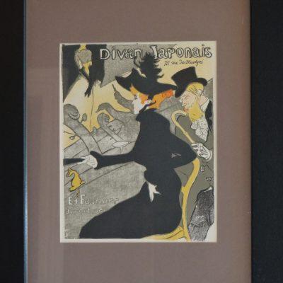 Toulouse-Lautrec framed print.