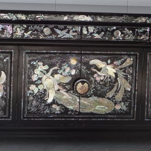 Low Japanned cabinet