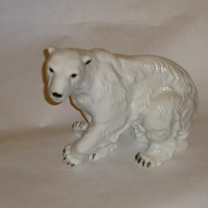 Royal Dux polar bear