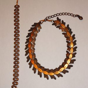 Vintage copper bracelet and necklace