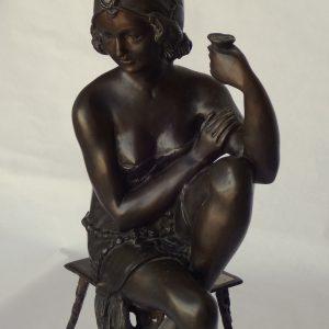 Bronze statue - detail