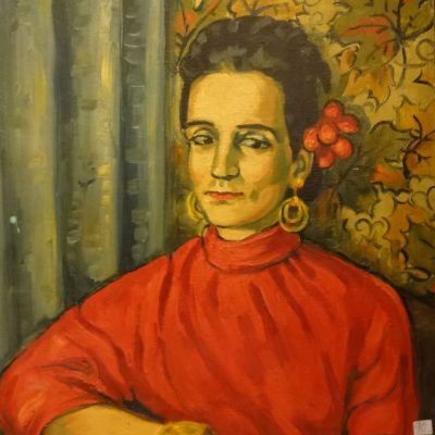 90. Marie Louise Kreyes painting