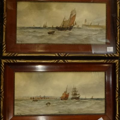 98. Pair of paintings
