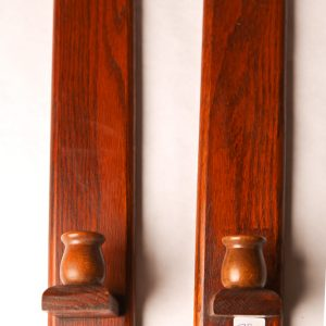 78.  Oak candle sconces. Arts and crafts style. Mid 19th century.