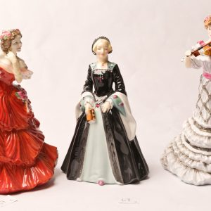67. Three Royal Doulton figurines. Janice; Joy; Second Violin (trial piece, non-standard bow).